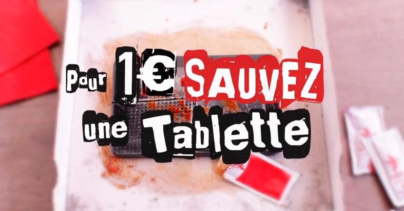 SFR _ «SAUVEZ UNE TABLETTE POUR 1€ _ (2014)