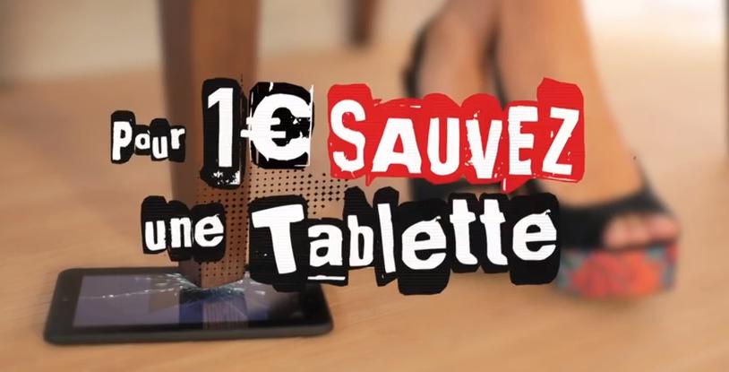 SFR _ «SAUVEZ UNE TABLETTE POUR 1€» _ (2014)