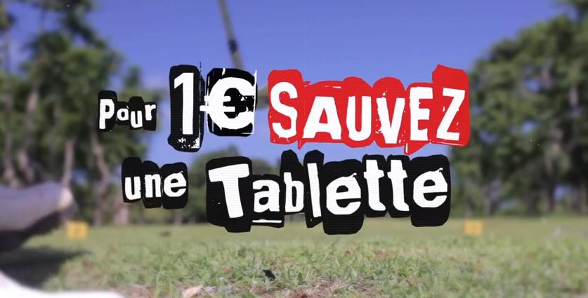 SFR _ «SAUVEZ UNE TABLETTE POUR 1€» (2014)